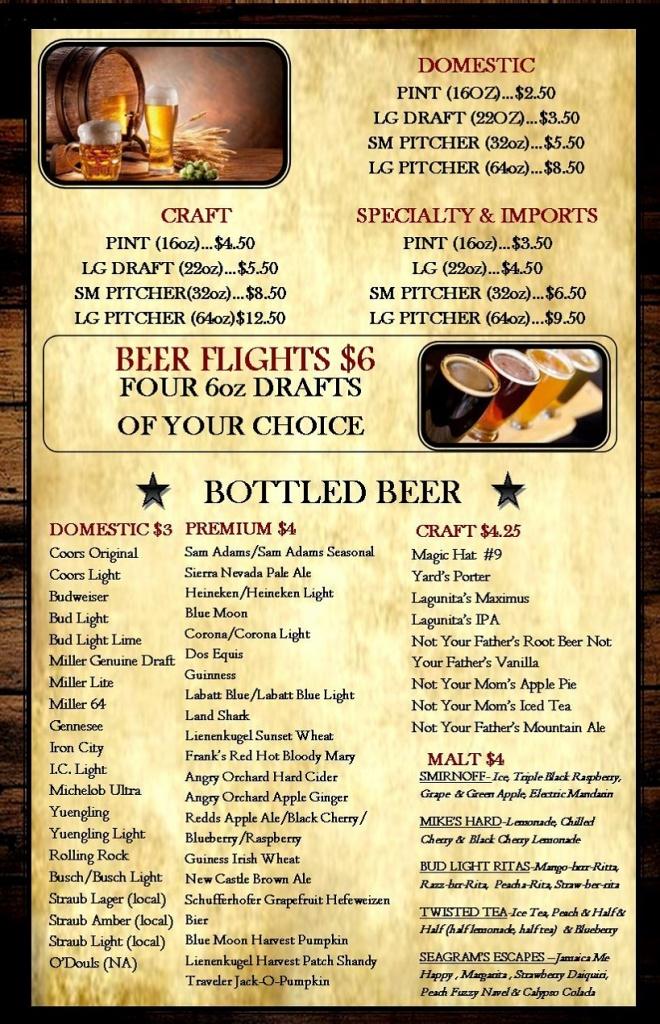 BEER MENU oct2 bottles