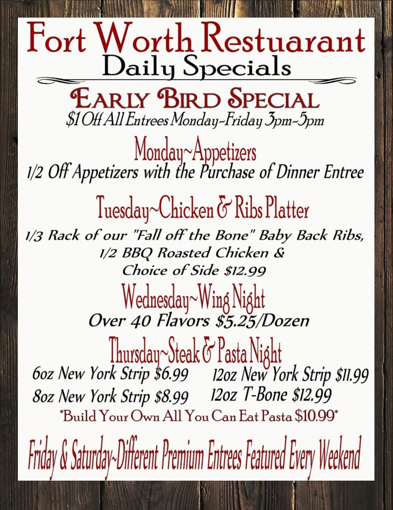 fw daily specials 2017