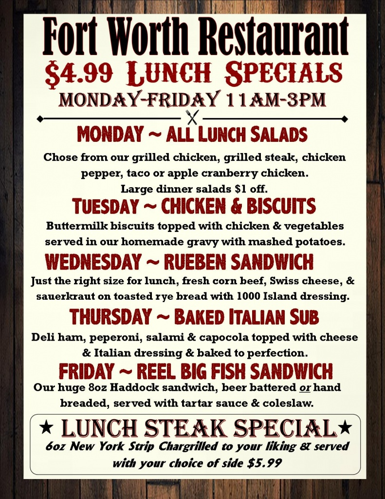 lunch specials 2017