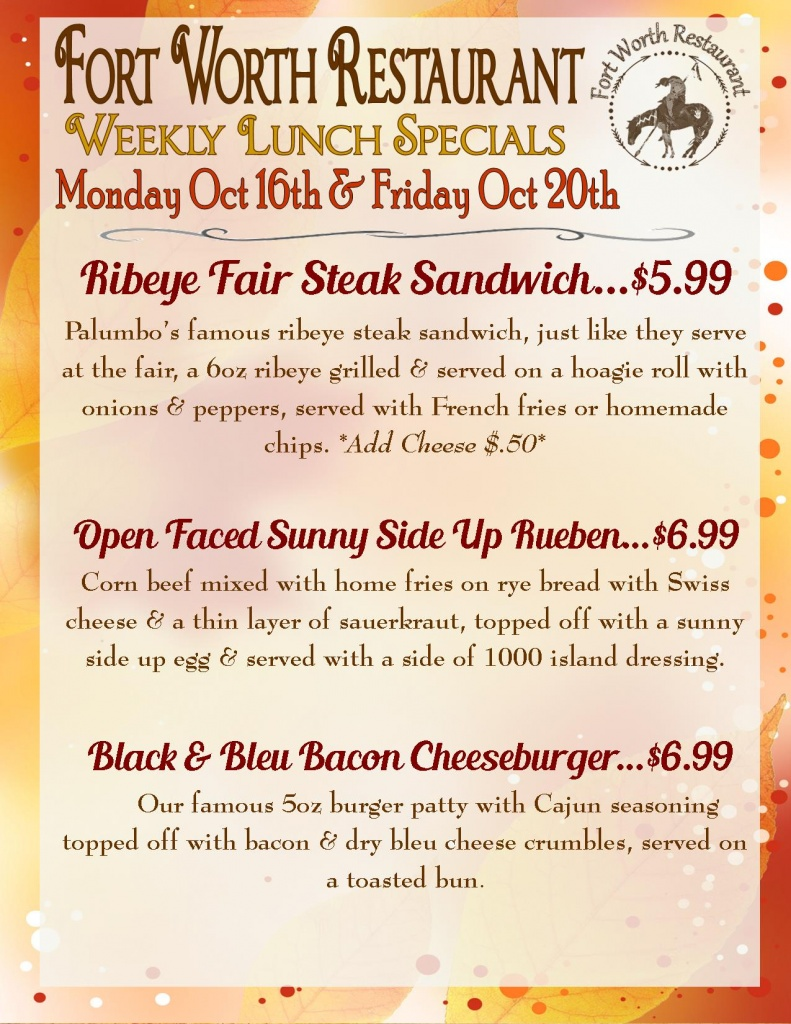 weekly lunch specials