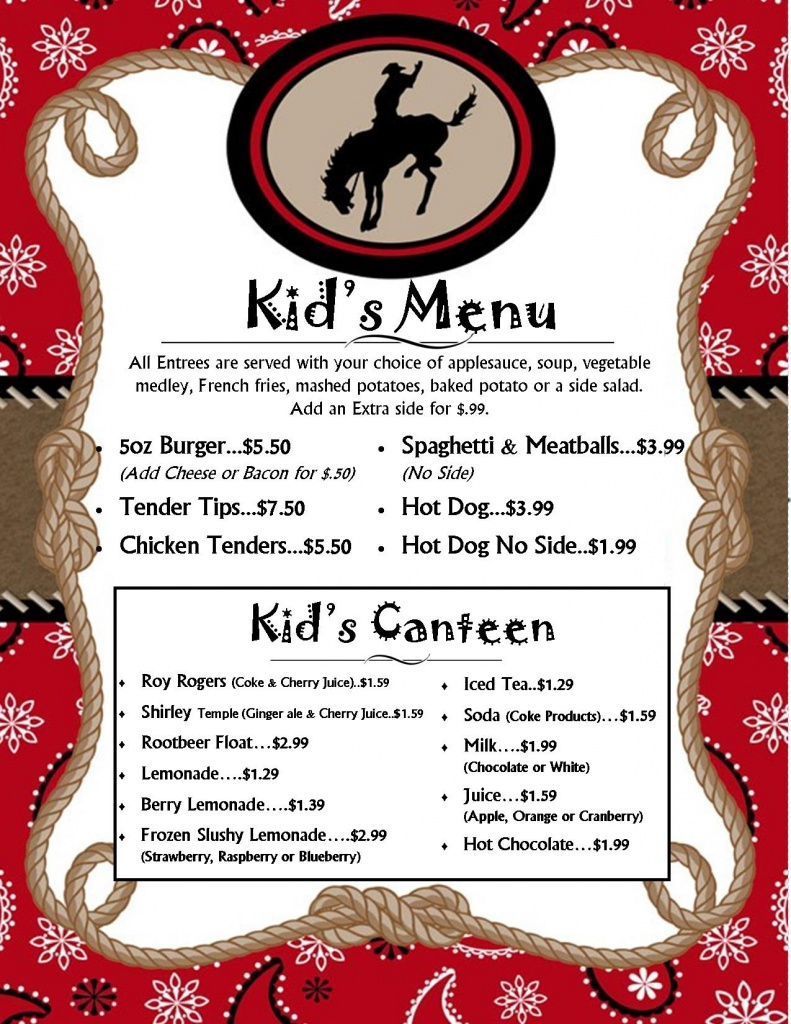 kids menu new